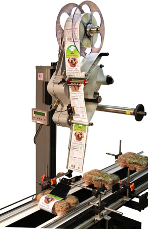 Alpha compact 3-sided clamshell labeling system