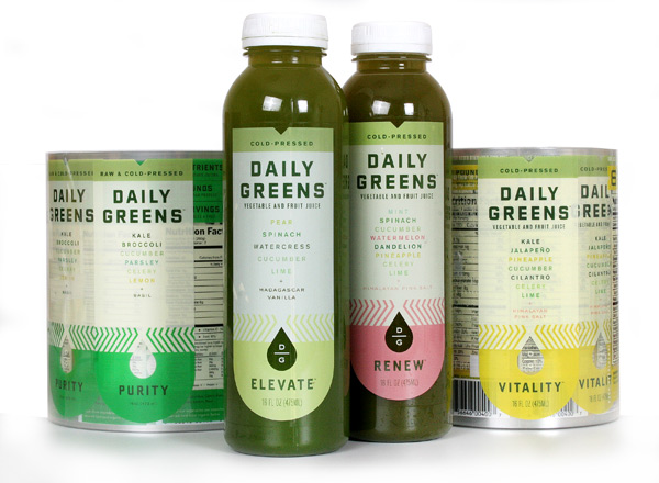 Drink Daily Greens labels