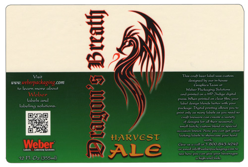 Dragon's Breath Stout label