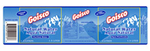 Gosico water bottle label