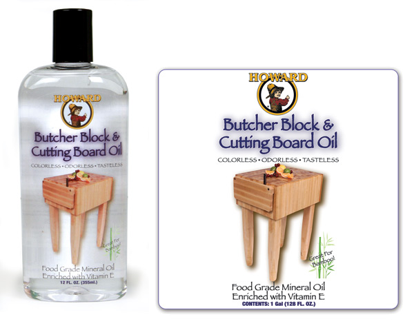 howard products butcher block conditioner label