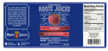 Roots Cold Press Juices label
