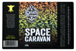 Space caravan beer label