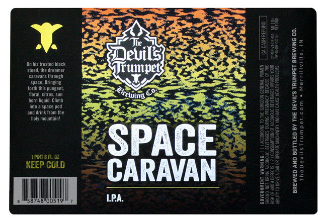Devil's Trumpet Beer label