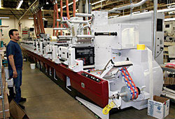 Flexographic label press