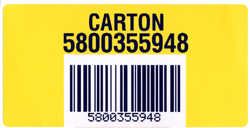 sequential bar code label