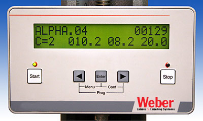 Alpha Compact label applicator HMI controller