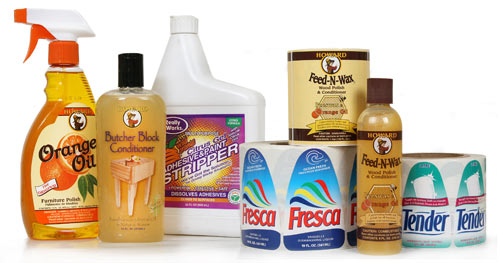 labels for household products and cleaning products