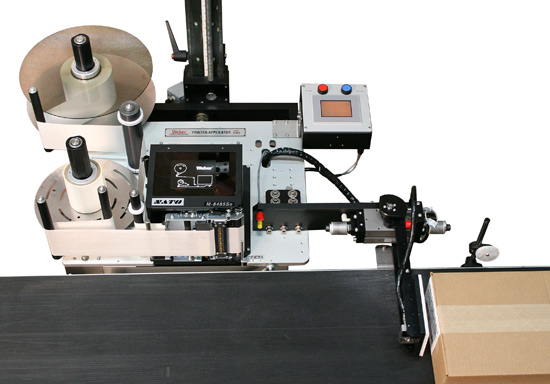 Model 5300 swing-tamp print apply system