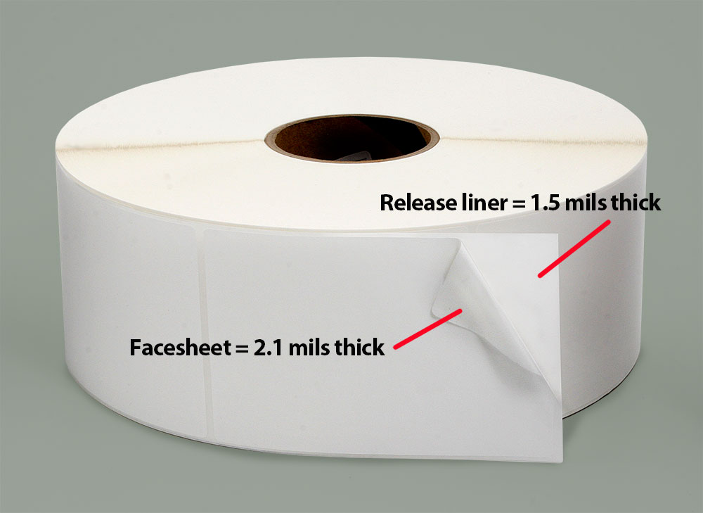Blank pressure-sensitive stock labels from Weber