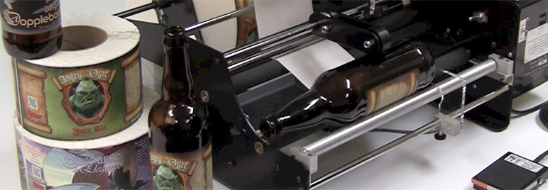 Bottle-Matic craft beer label applicator