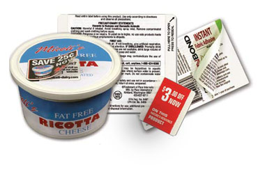 coupon labels and other specialty labels from Weber