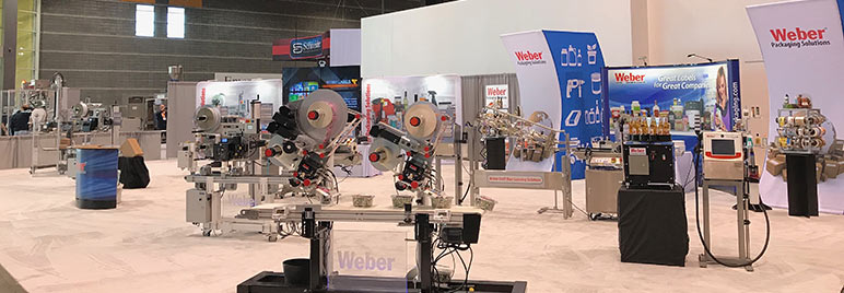 Weber Packaging Solutions trade show booth
